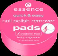 Салфетки для снятия лака Quick & easy nail polish remover pads Essence: фото