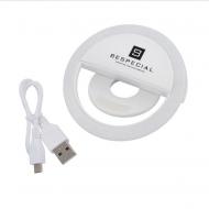 Портативная светодиодная лампа для смартфона Bespecial (белая): фото