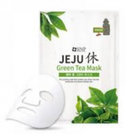Маска с экстрактом зеленого чая SNP Jeju rest green tea mask 22 мл: фото
