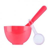 Набор для нанесения альгинатных масок Anskin Beauty Set Red Rubber Ball Small/Spatula middle/Measuring Cup 3шт: фото