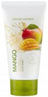Пенка для умывания с экстрактом манго NATURE REPUBLIC REAL NATURE MANGO FOAM CLEANSER(R) 150мл: фото