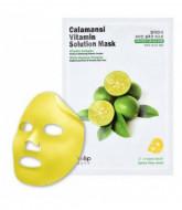 Маска для лица тканевая витаминная Eyenlip CALAMANSI VITAMIN SOLUTION MASK 25мл: фото