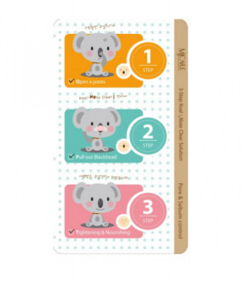 Набор от черных точек 3-Step Koala Nose Clear Solution 7гр: фото