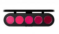 Палетка блесков и помад, 5 цветов Make-Up Atelier Paris №19 фиолетовая, 10г: фото