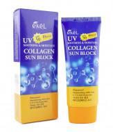 Солнцезащитный крем с коллагеном Ekel Soothing & Moisture Sun Block Collagen SPF50/PA+++ 70 мл: фото