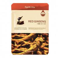 Тканевая маска с экстрактом красного женьшеня FARMSTAY RED GINSENG VISIBLE DIFFERENCE MASK SHEET 23мл