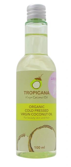 Масло для кожи и волос ЛАВАНДА TROPICANA Organic Cold Pressed Virgin Coconut Oil Lavender 100мл: фото