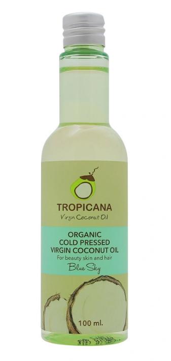 Масло для кожи и волос ГОЛУБЫЕ НЕБЕСА TROPICANA Organic Cold Pressed Virgin Coconut Oil Blue Sky 100мл: фото